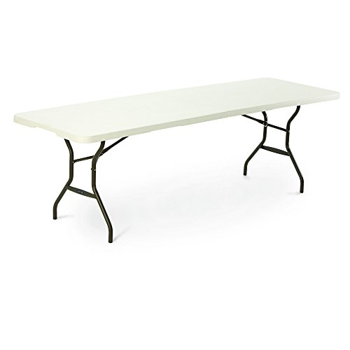 Lifetime 8-Foot (2.44m) Rectangular Light Commercial Fold-in-Half Folding Table for 8-10 People