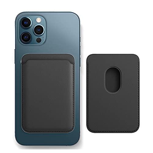 yooohoh Portatarjetas de Cuero magnético - Adecuado para iPhone 12 Mini/iPhone 12 / iPhone 12 Pro/iPhone 12 Pro MAX Portatarjetas antimagnético magnético (Negro)