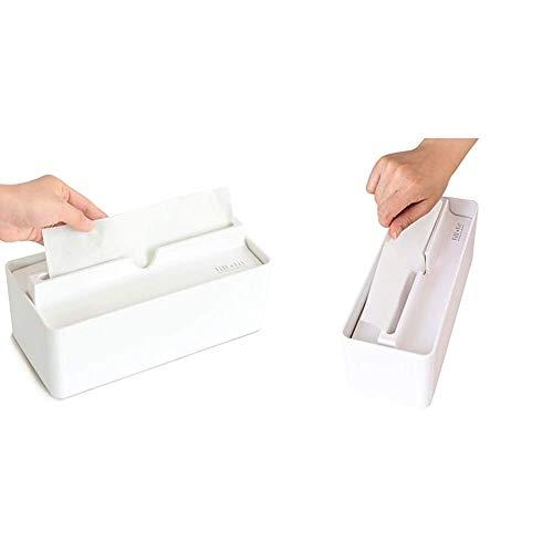 【セット買い】オカ(OKA) fill+fit(フィルフィット) ペーパータオルケース リップタイプ(レギュラー+スリムタイプ)