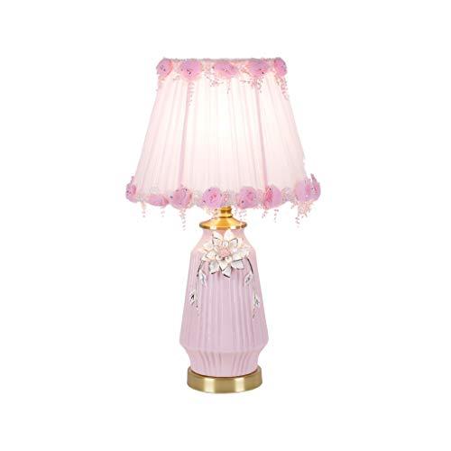 SHUTING2020 lámpara de Mesa Lámpara de Lectura Niña de Rosa Lámpara de Mesa de cerámica del Dormitorio de la lámpara de cabecera hogar de la Manera lámpara de Escritorio Lámpara Noche
