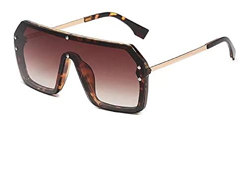 YOUMIYH Nuevas Gafas de Sol de Gafas de Sol de Marco Grande Universal del Nuevo Hombre y de Las Mujeres de la Moda de Las Gafas de Sol de la graduación del Espejo de Gran tamaño. UV400