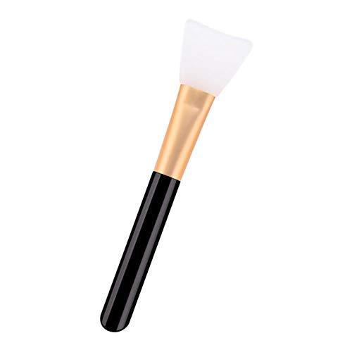 Brosses de Visage Tête Silicone et Poignée en Bois Pour Appliquer Masque Facial, Pinceau de Mélange Applicateur pour Masque de Boue - Noir