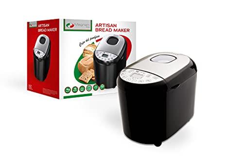 MAGNANI Brotbackautomat mit 19 Einstellungen (für Brot, Joghurt, Reis oder Marmelade), Brotbackmaschine inkl. Messbecher & Löffel, 220~240 V~50/60 Hz, 550 W