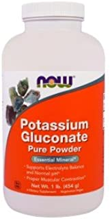 Now Foods, Potassium Gluconate Pure Powder, 1 lb (454 g) - 2PC