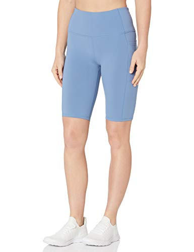 Skechers Women's Go Walk GoFlex 10' Bike Short with Pockets, Serenity Blue, XS