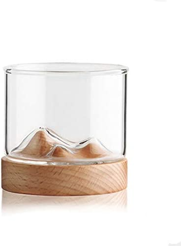 Glass cup with Wooden Popular brand Base Cheap super special price 12oz Cu Wine Glasses Tea Clear Beer