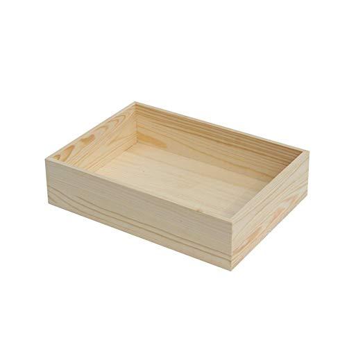 Kentop - Caja de Madera sin Tapa, Varios tamaños