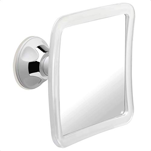 "Fogless Shower Mirror for Shaving with Upgraded Suction, Anti Fog Shatterproof Surface and 360° Swivel, 6.3"" x 6.3"""