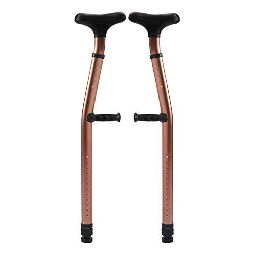 PENGJIE-Walking Aid Axilas Fracturas de muletas Dobles Rehabilitación de pie Bastón Antideslizante Caminante médico para discapacitados de la Tercera Edad ⭐