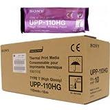 Sony用紙Sony upp-110hg Thermal印刷メディアビデオ画像処理用紙1ボックス( 10ロール