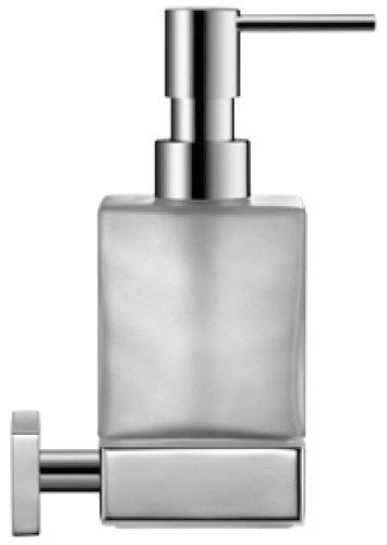 Duravit 0099541000 Seifenspender Karree für Wandmontage, Glas matt, chrom
