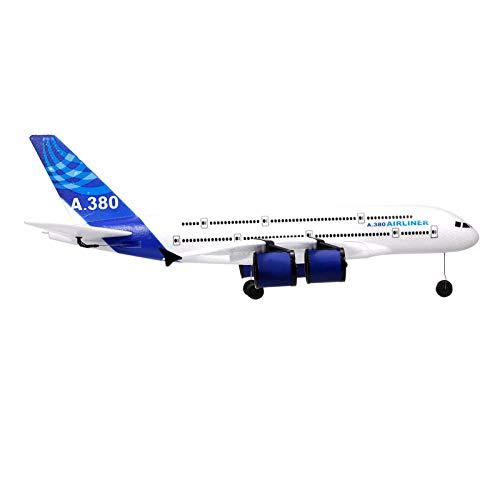 Goolsky A380 2.4G RC Flugzeug Fliegendes Flugzeug mit LED Suchscheinwerfer 3CH für Anfänger EPP Schaum Starrflügel Flugzeug Schaum Flugzeug Fernbedienung Flugzeug Modell Spielzeug Kindergeschenke