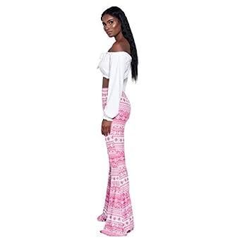 mokingtop Flared Bell Bottom Pants Women s Trousers High Waist Casual Tight Bell Bottom Pants Wide Leg Flared Pants Pink L