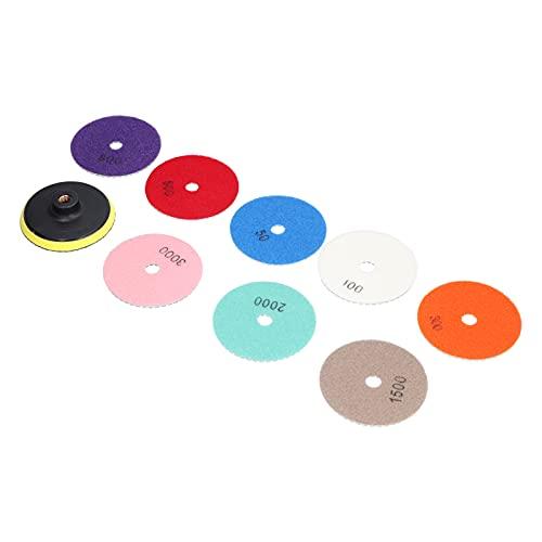 Almohadillas De Pulido De Diamante, 8 Almohadillas Afiladas Para Pulir, 1 Disco Adhesivo, Diseño De Costura, Kit De Pulido De Hormigón Para Adoquines Para Granito