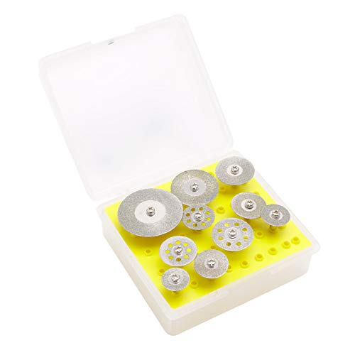 Ontracker 10 pieces 2.35 mm diamond cutting disc for rotating mini drill cutting disc