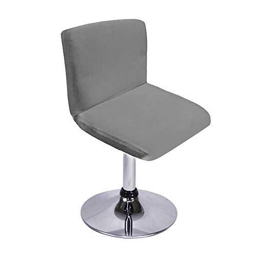 SUMTREE Funda para silla de bar con respaldo, extraíble y lavable, decoración de banquete para la cocina, mesa de desayuno, taburete, decoración de silla (gris)