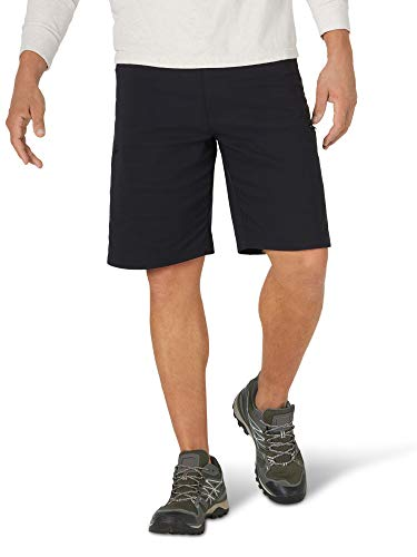 Wrangler Authentics Men's Performance Comfort Flex Waist Cargo Short, black, 36