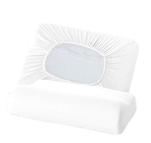 Bellana Gesundheitskissen Bezug Mako Jersey 30-50 x 40-80 cm und 8-15 cm Höhe cm Farbe: weiß