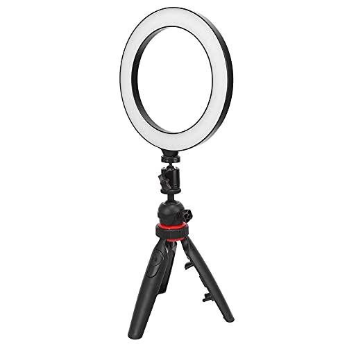 Pkfinrd LED 8in Luz de Anillo con trípode Selfie Stick Clip de teléfono Bluetooth Control Remoto Dimmable USB Puerto Fotografía Ridinería