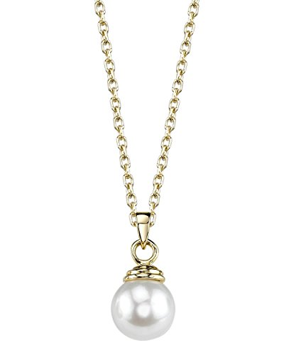 THE PEARL SOURCE 14K Gold 8-8.5mm A…
