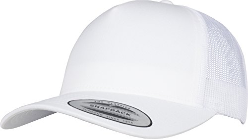 Flexfit 5-Panel Retro Trucker Cap Kape, White, one Size