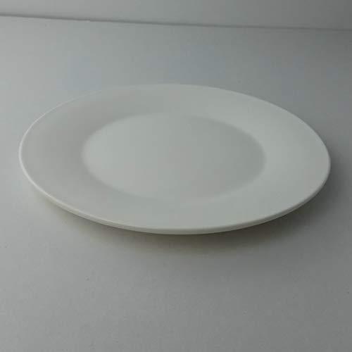 KANJJ-YU Placa de cerámica del Hotel Ronda de Porcelana Blanca Placa Plana 5-16 Pulgadas de Pantalla Plana Placa Placa Placa de cerámica de cerámica de cerámica Blanca Occidental 6 Pulgadas Cocina