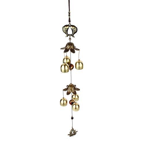 Carillon à Vent en métal pour décoration Murale de Maison, extérieur, Balcon, Jardin, Cour, Patio