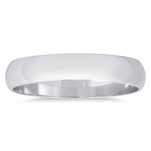 3mm Domed Wedding Band in 10K White Gold