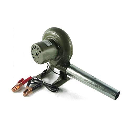 SY-Home Ventilador eléctrico, Ventilador de Barbacoa de 12 V con Clip de batería + Ventilador eléctrico para Chimenea de Picnic al Aire Libre de conducto,150W