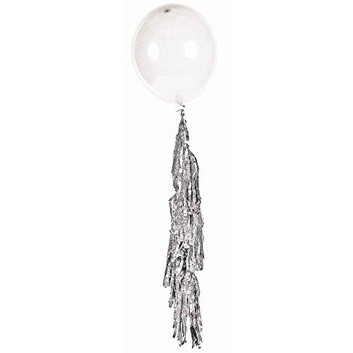 Forum Novelties SK97194 Balloon Tassels Garland Large Silver Holographic