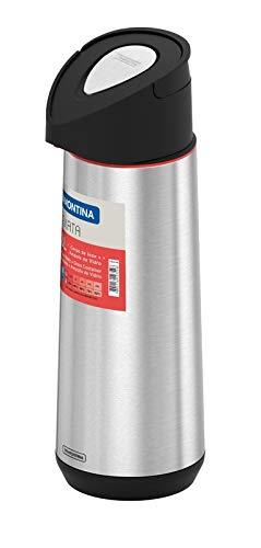 Tramontina Garrafa Térmica em Aço Inox com Ampola de Vidro, 1.8L, Prata