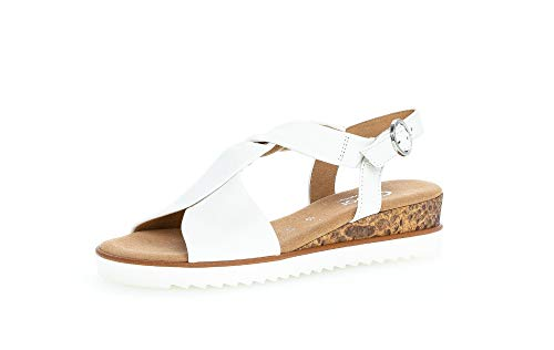 Gabor Mujer Sandalias, señora Sandalia con Tiras,Sandalia,Zapato de Verano,Sandalia de Verano,cómoda,Plana,Weiss(KSnake/offw),43 EU / 9 UK