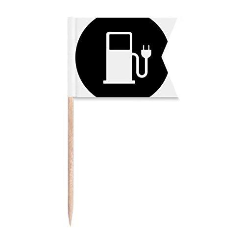 Charing Station Vehículos de Energía Proteger el Medio Ambiente Palillo Banderas Etiquetado para...