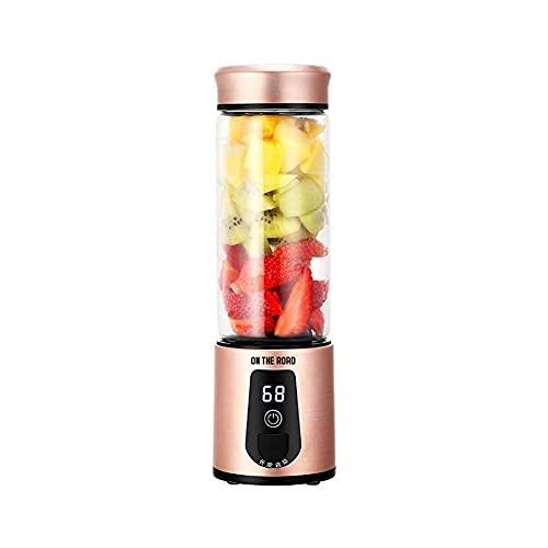 LUOYANFA Exprimidor inalámbrico, mini licuadora casera, fácil de llevar, taza de fruta multifunción, taza de jugo segura eléctrica USB