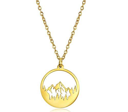 Solatea Goldkette für Weltenbummler I Berg I Reise I Abenteuer I besonderes Geschenk I 18 Karat vergoldete Halskette I für Frauen, Mädchen, beste Freundin