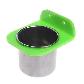 Xinger en Acier Inoxydable Alimentaire Bol d'eau mangeoire pour Les Oiseaux pour Les Cages Cages Coop Dog Parrot Pet, S