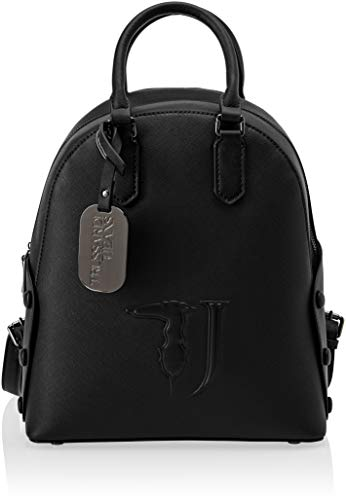 Trussardi Jeans Melissa Backpack Covered Studs, Zaino Donna, Nero (Black On Tone), 26.5x30x11 cm (W x H x L)