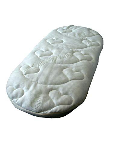 Kuli-Muli 1258 Babymatratze Lyocell mit Belüftungsauflage, ovale Form, 76x40 cm