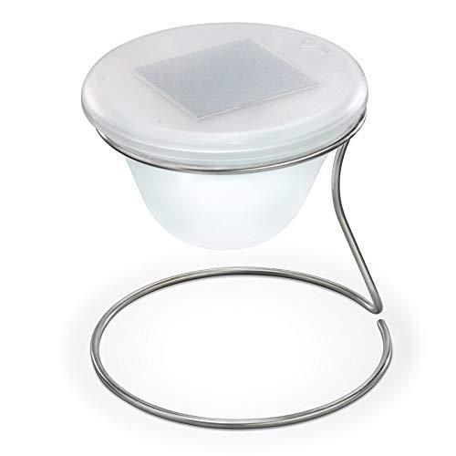 Esotec Design Solar Tischlampe, kaltweiß 102025