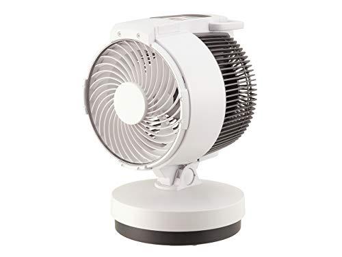 コイズミ サーキュレーター コードレス DCモーター 風量5段階 タイマー付き 自動首振り ホワイト KCF-1593/W