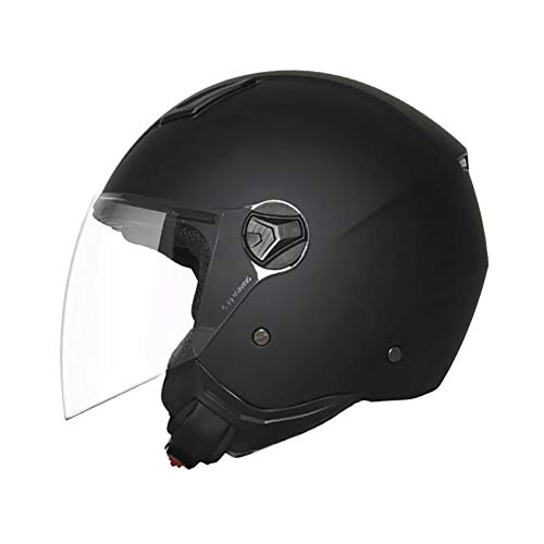 Aks Yue Motorradhelm, ECE-Sicherheitszertifizierter Halbhelm Herren-Vierjahreszeiten- und Halbhelm, Geländewagen-Mountainbike-Helm,M