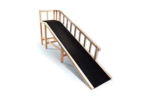 Gentle Rise Dog Bed Ramp | 74' Long and Supports Small, Large, Elderly Dogs up to 120 LBS