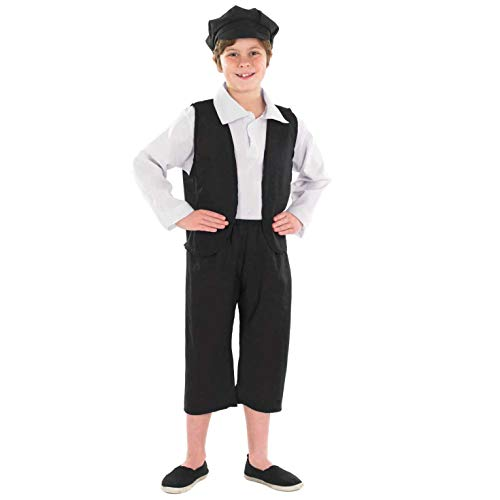 Fun Shack Déguisement pour Enfant Costume d'Écolier Victorien Noir pour Garçon - Taille XL