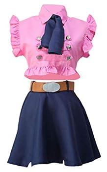 BoerMee Anime Womens Sins Elizabeth Liones Cosplay Costume Full Set  S Pink