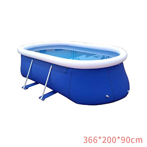 AXHSYZM Frame Swimming Pool Metal Frame Pool Above Ground Pool Pond Family Swimming Pool Metal Frame Structure Pool 36620090cm
