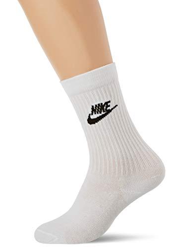 NIKE U Nk Nsw Evry Essential Crew Socks, Unisex adulto, white/black, M