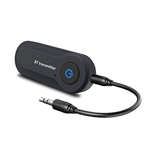 Andven Wireless Bluetooth Trasmettitore, 3.5 mm Audio Stereo Bluetooth Wireless Portatile trasmettitore, aptX Low Latency, per TV, iPod, MP3 / MP4