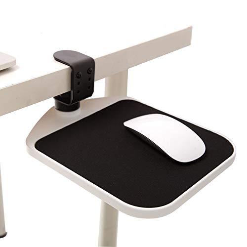 QINAIDI 360-Grad-Drehung Einstellbare Maushalterung - Höhe Komfortable Mauspads Hände Halterung Drag Gaming Mousepad,Whiteborder