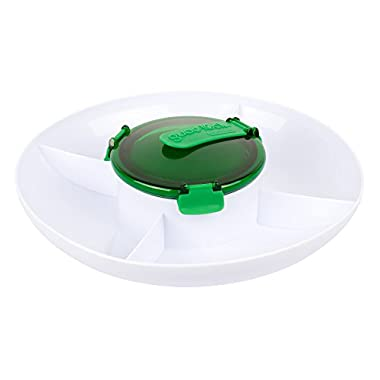 Casabella Guac-Lock Container with Tray, Green/White