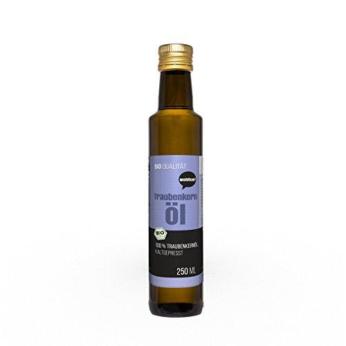Wohltuer Traubenkernöl kaltgepresst 250ml aus kontrolliert biologischem Anbau mit 4% Anteil an...